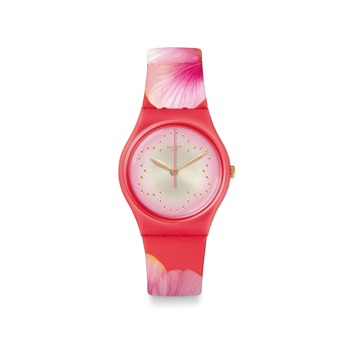 Montre Swatch mixte silicone rose - vue V1