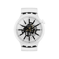 Montre Swatch mixte plastique silcone transparent