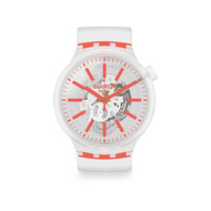 Montre Swatch mixte plastique silicone transparent