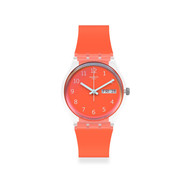 Montre Swatch mixte plastique silicone rouge