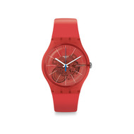 Montre Swatch mixte plastique silicone orange
