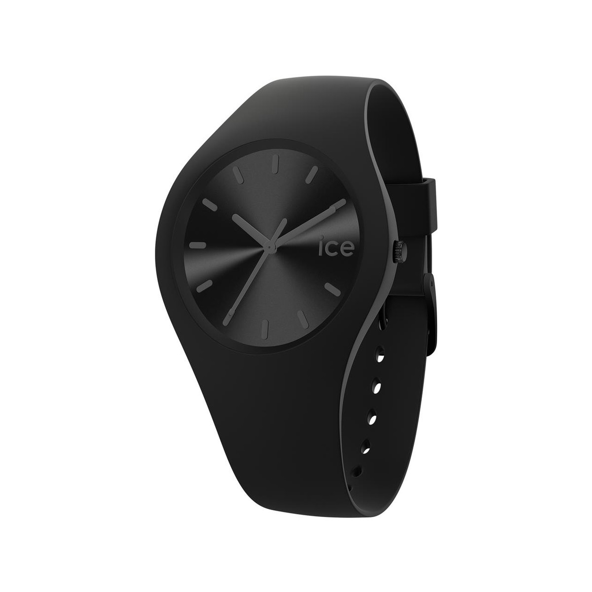 Montre Ice Watch femme medium silicone noir