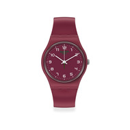 Montre Swatch mixte plastique rouge