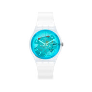 Montre Swatch mixte pastique silicone transparent