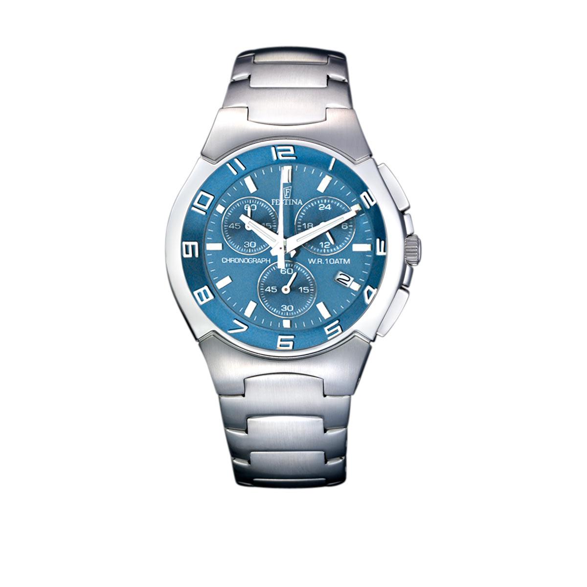 Montre Festina homme chrono acier bracelet acier - Homme - modèle ... e4791a296496