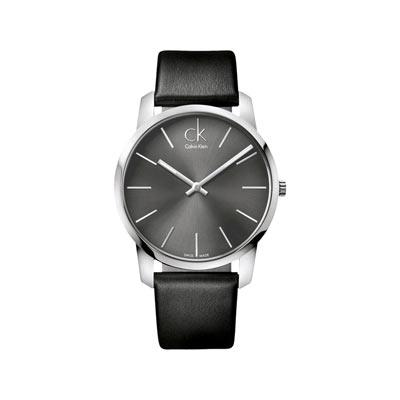 prix spécial pour beauté techniques modernes Montre Calvin Klein homme bracelet cuir noir