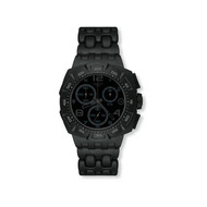 Montre Swatch Black Dunes homme chrono plastique