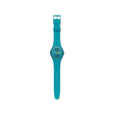 Montre Swatch mixte silicone turquoise - vue V2
