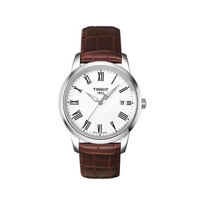 Montre Tissot homme acier bracelet cuir , Homme , modèle T0334101601301