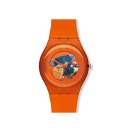 Montre Swatch Orangish mixte plastique orange
