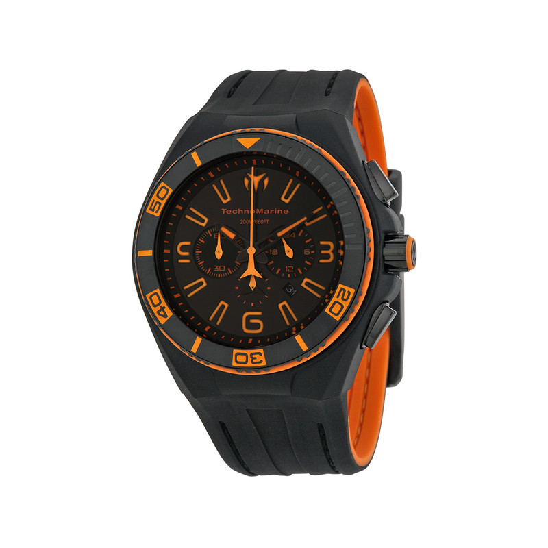Montre Technomarine night vision2 noir/orange