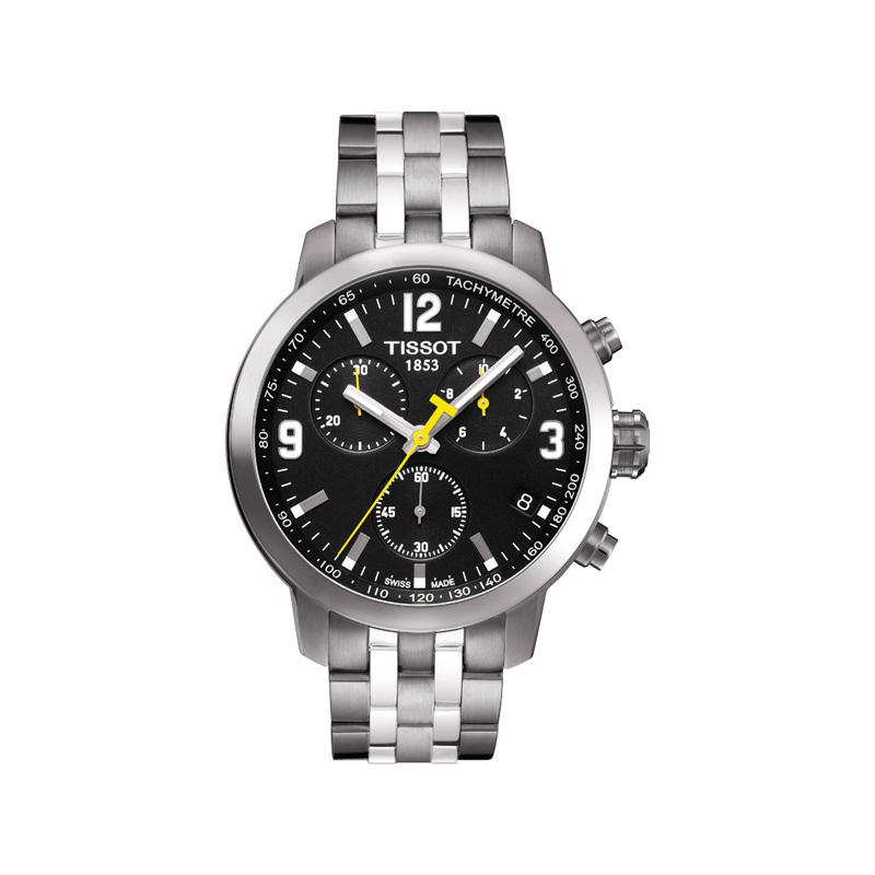 d22197aa78d3f Montre Tissot homme chrono bracelet acier - Homme - modèle ...