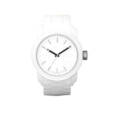 montre diesel mixte bracelet silicone blanc femme montre quartz maty. Black Bedroom Furniture Sets. Home Design Ideas