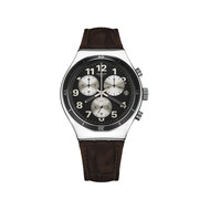 Montre Swatch chrono homme bracelet cuir marron