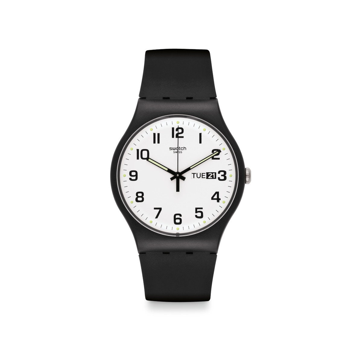 Montre Swatch mixte silicone noir