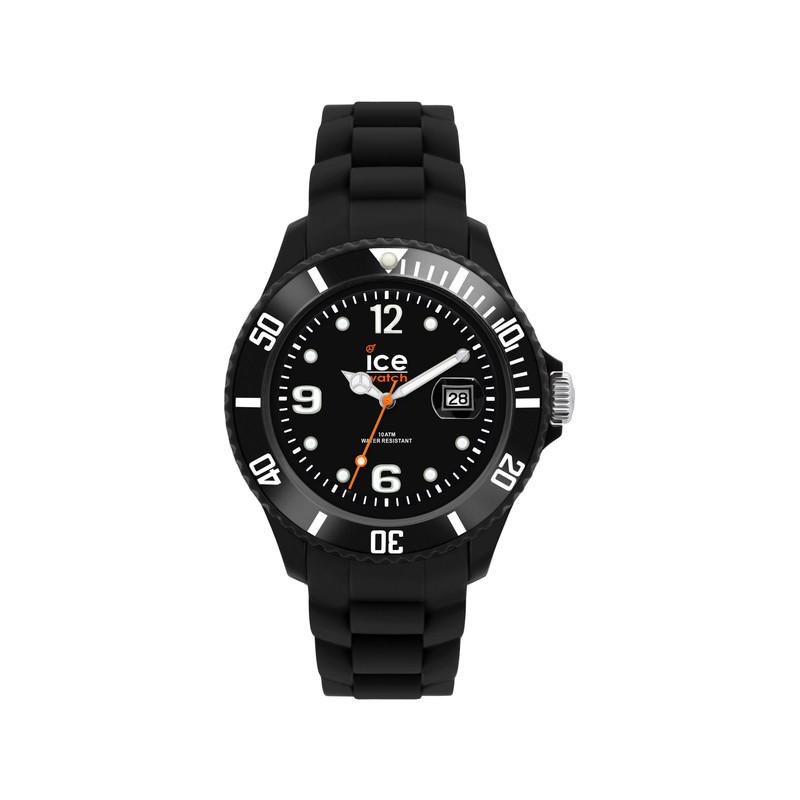 d33b67cbb5e3a5 Montre Ice Watch mixte silicone noir - Femme, homme - modèle 000133 ...