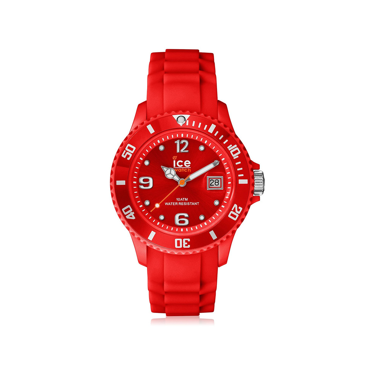 Montre Ice Watch femme plastique silicone rouge