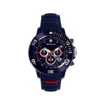 Montre Ice Watch homme chronographe silicone bleu