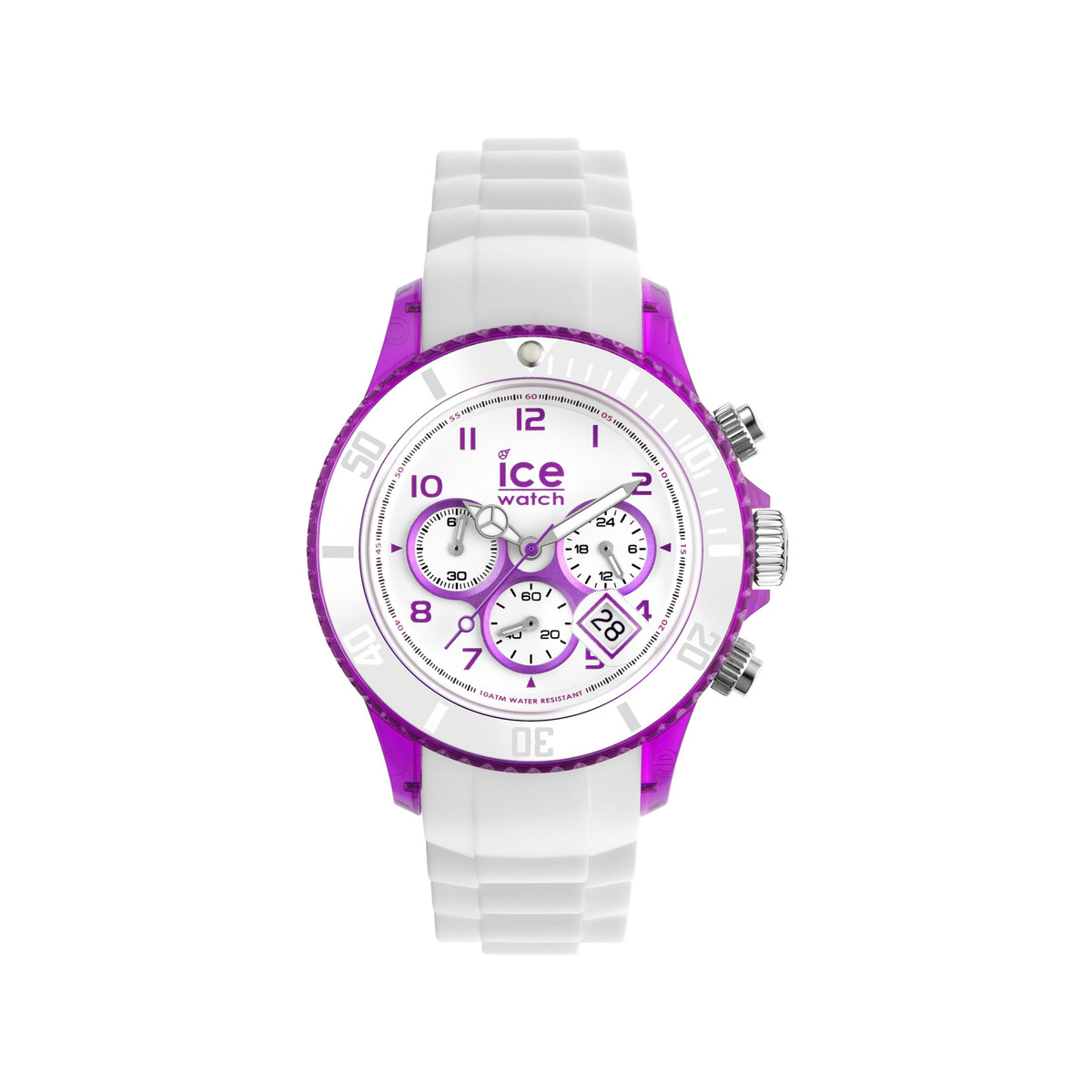 Montre Ice watch mixte chronographe silicone blanc