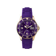 Montre Ice Watch mixte silicone violet et doré