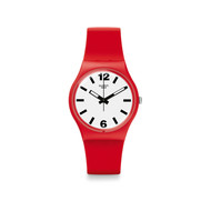 Montre Swatch Red pass mixte plastique silicone