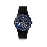 Montre Swatch homme chronographe silicone noir