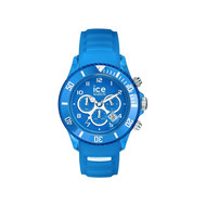 Montre Ice Watch mixte chronographe silicone bleu