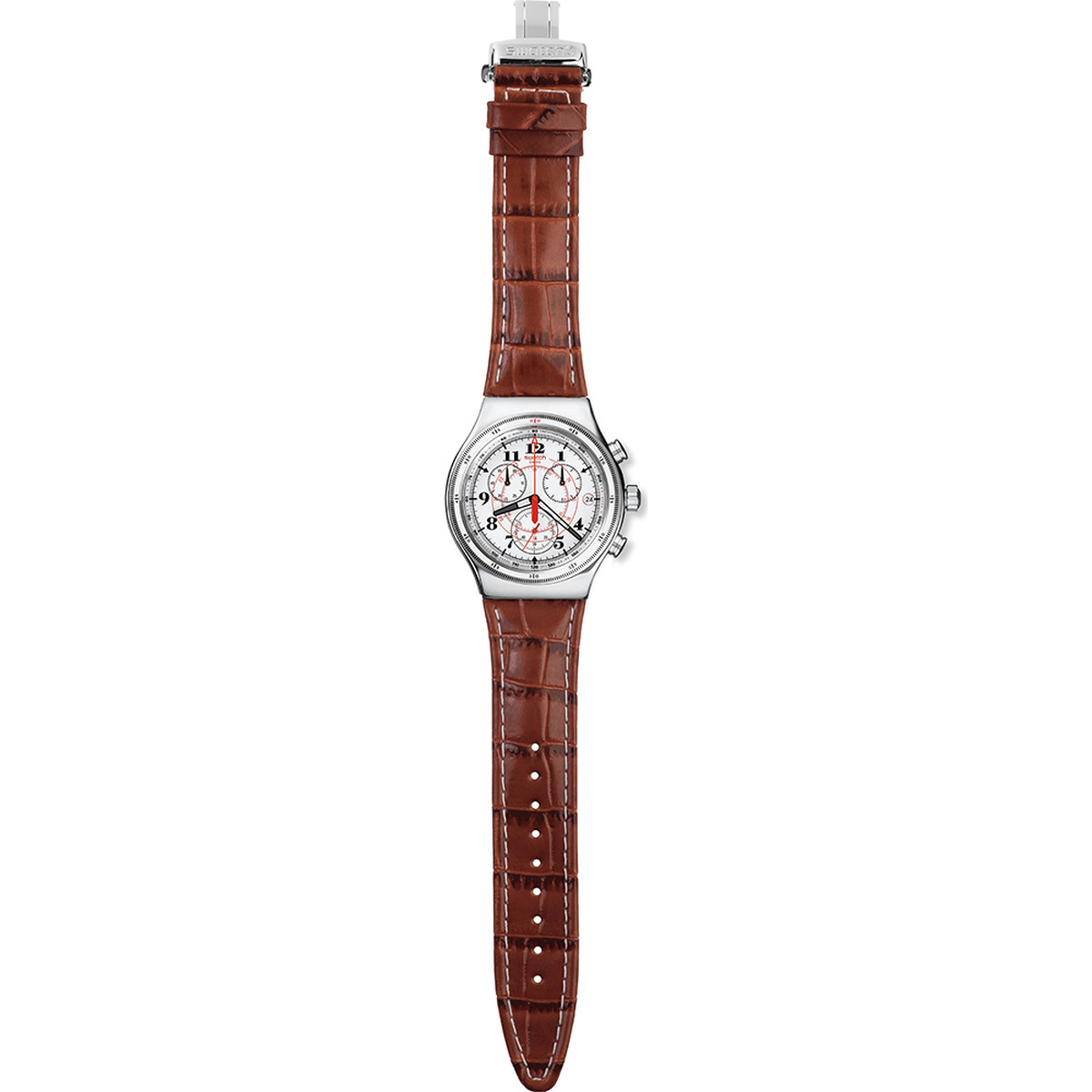 Montre Swatch Back to the roots homme acier cuir - vue VD1