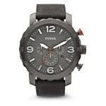 Montre Fossil homme chronographe acier gris