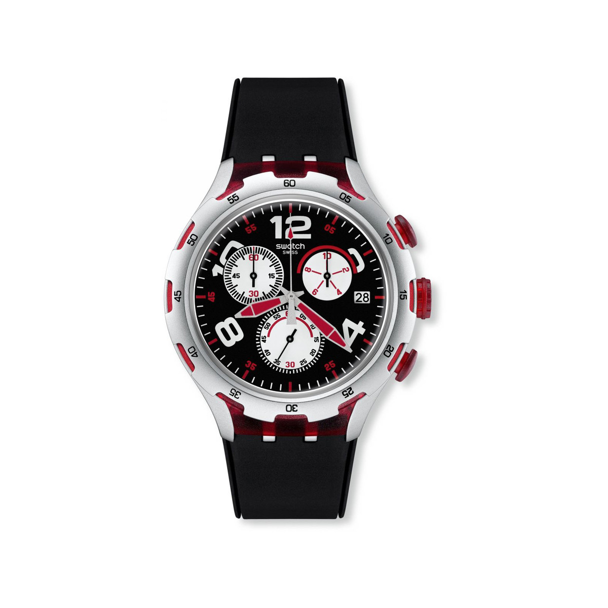 Montre Swatch Red wheel mixte chronographe