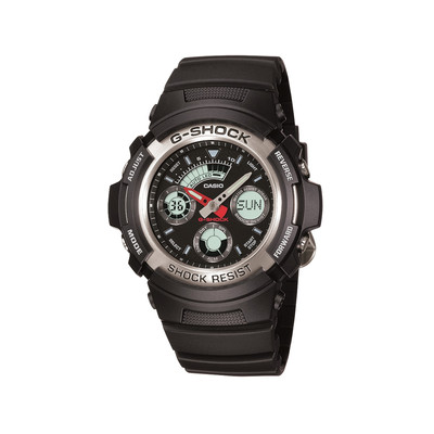 montre casio g shock homme r sine noire homme mod le aw 590 1aer maty. Black Bedroom Furniture Sets. Home Design Ideas