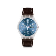 Montre Swatch homme cuir marron
