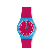 Montre Swatch Lampone femme silicone rose