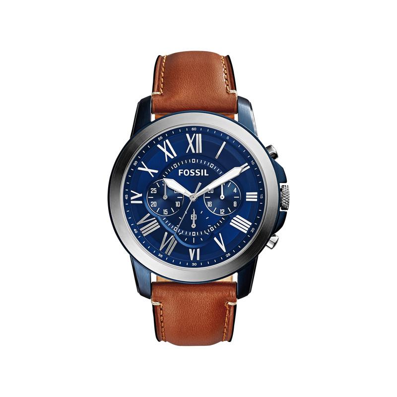 Montre Fossil homme chronographe bracelet cuir