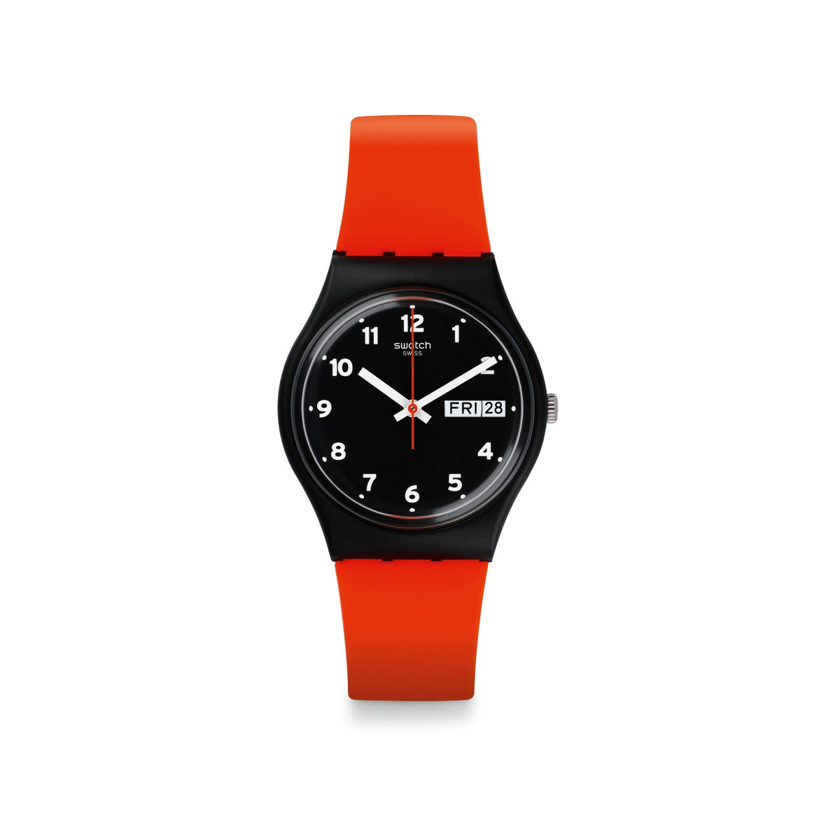 Montre Swatch mixte caoutchouc orange - vue 1