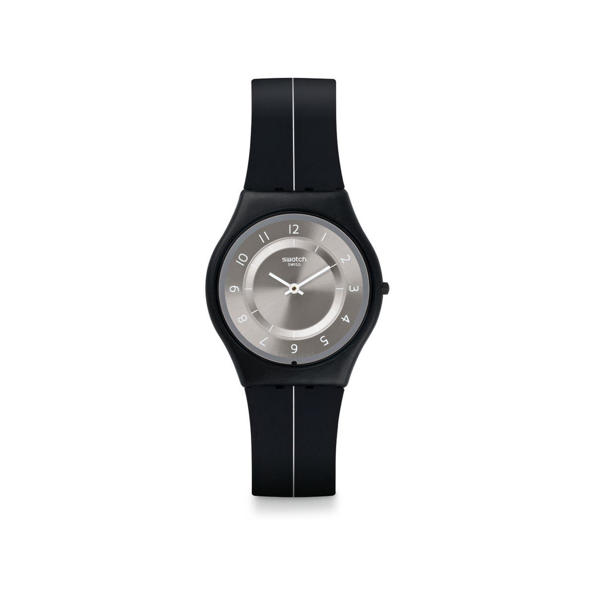 Montre Swatch my silver black mixte silicone noir
