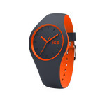 Montre Ice Watch mixte silicone gris et orange