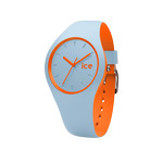 Montre Ice Watch mixte silicone bleu et orange