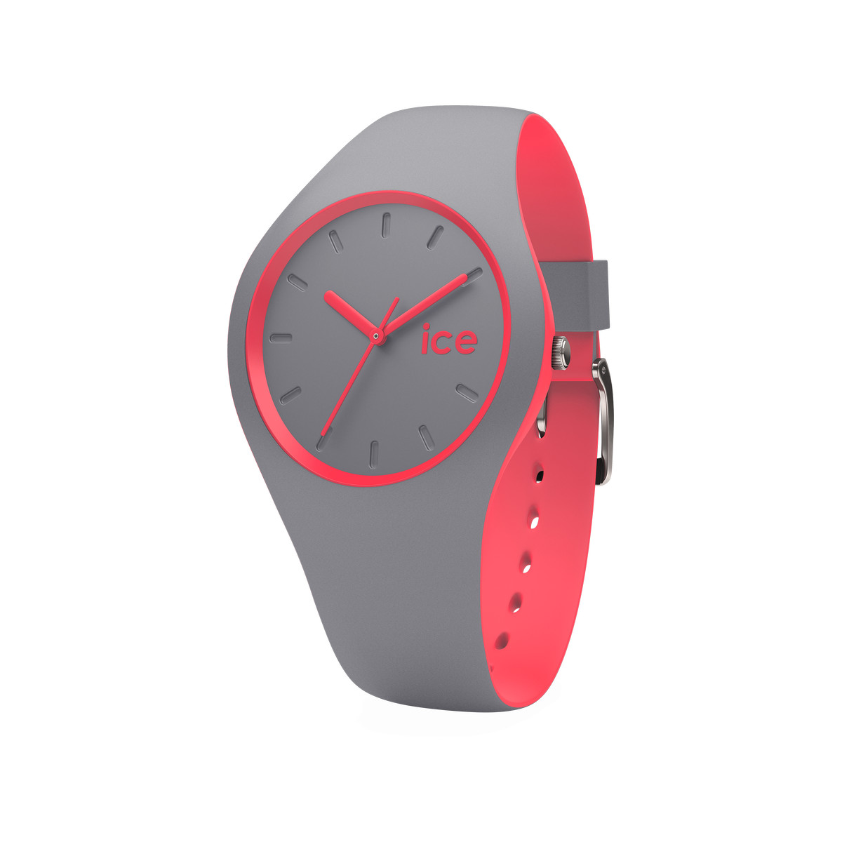 Montre Ice Watch mixte silicone gris et rose