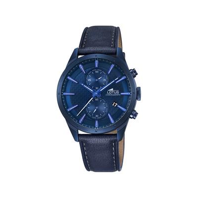 montre lotus homme acier bleu bracelet cuir homme mod le l18315 1 maty. Black Bedroom Furniture Sets. Home Design Ideas