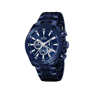Montre Festina homme acier bleu chronographe - Homme - modèle F16887 1    MATY c51b96f9209e