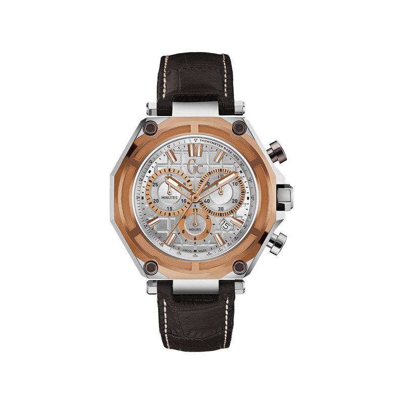 Montre Guess Collection homme chronographe cuir - vue 1