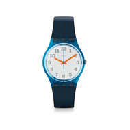 Montre Swatch mixte silicone bleu
