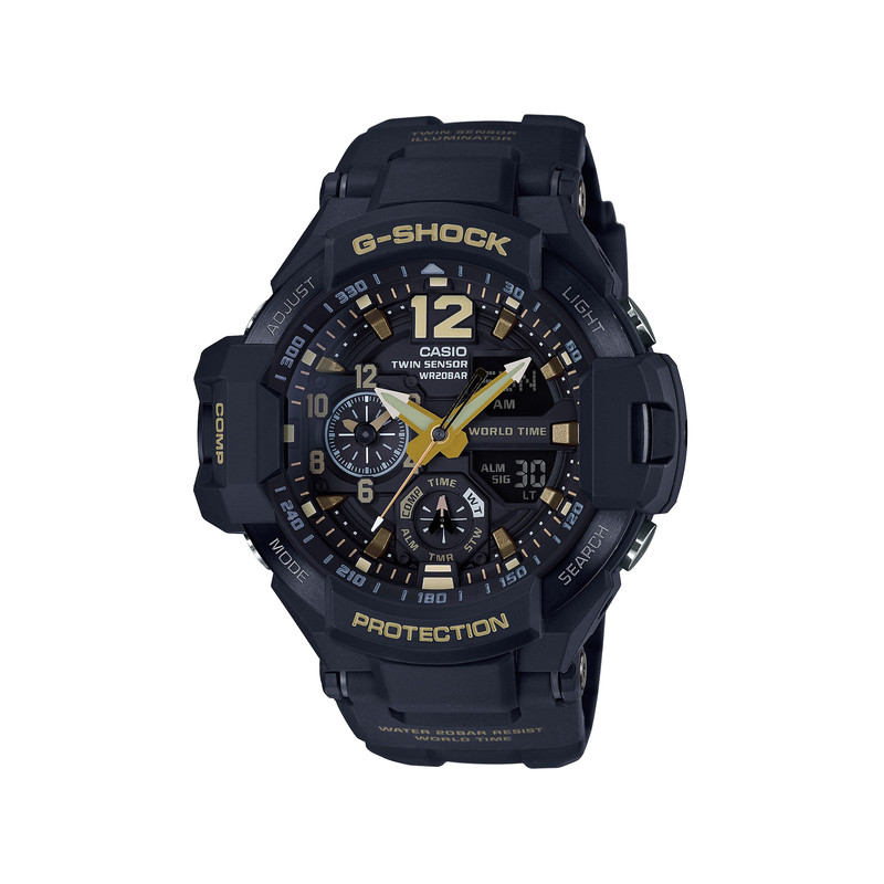 montre casio g shock homme r sine noire homme mod le ga 1100gb 1aer maty. Black Bedroom Furniture Sets. Home Design Ideas