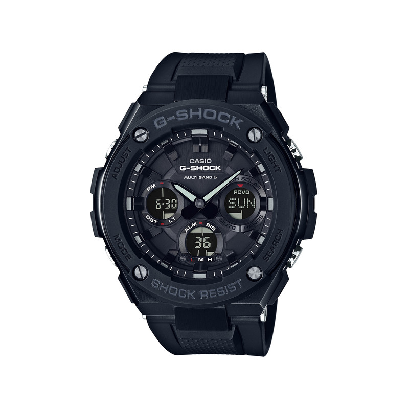 montre casio g shock homme r sine noire homme mod le gst w100g 1ber maty. Black Bedroom Furniture Sets. Home Design Ideas