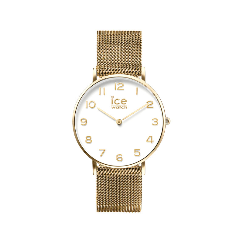 Montre Ice Watch mixte acier dore