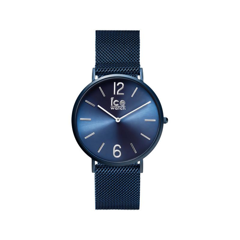 montre ice watch mixte acier bleu femme homme mod le. Black Bedroom Furniture Sets. Home Design Ideas