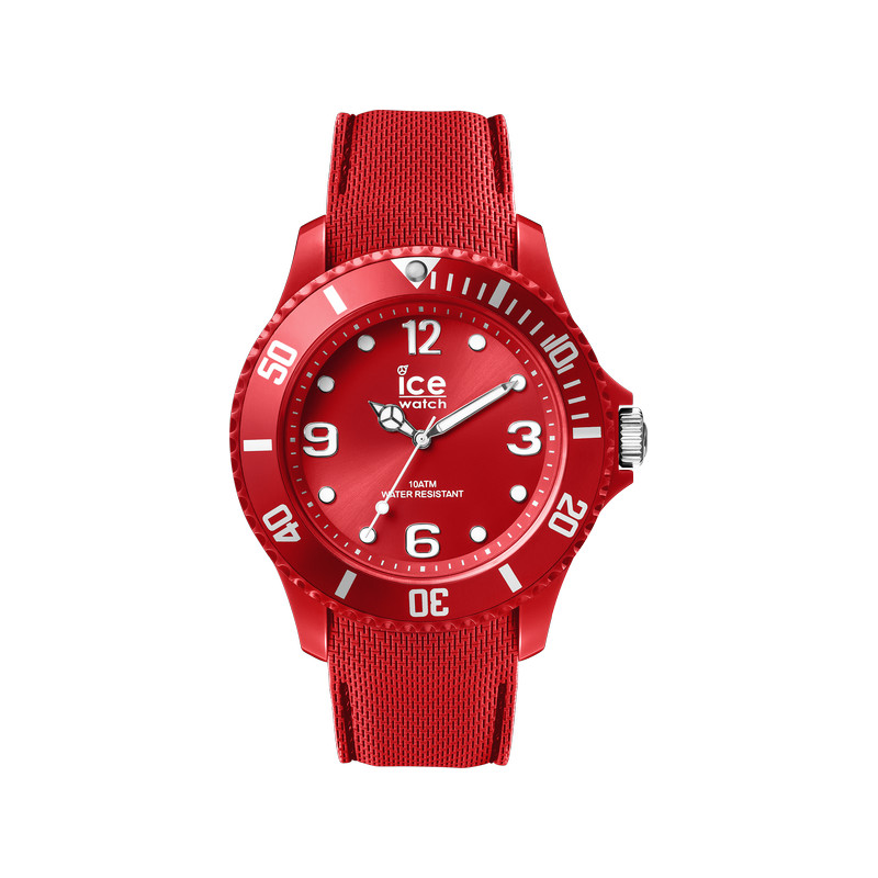 montre Ice Watch homme silicone rouge