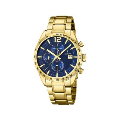 Montre Festina homme chronographe acier doré - Homme - modèle F20266 2    MATY d1e53ed5cc9c