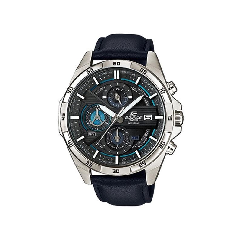 Montre Casio homme acier cuir bleu - Homme - modèle EFR-556L-1AVUEF ... d50e5a2f7e59